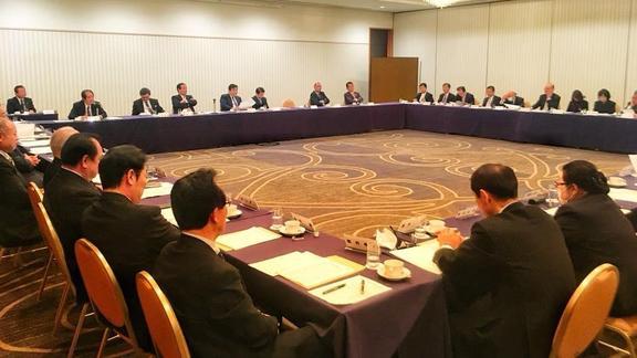 県連総務・選対・職域支部長会議を開催